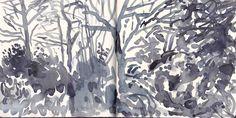 21 Ideas landscape sketch david hockney for 2019 David Hockney Landscapes, David Hockney Paintings, Landscape Sketch, Landscape Drawings, Watercolor Landscape, Painting Prints, Painting & Drawing, Encaustic Painting, Lino Prints