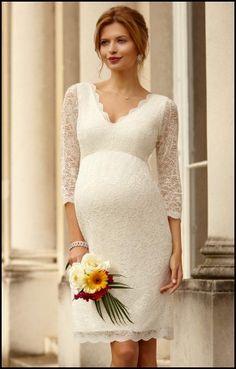 Short Wedding Dresses for Pregnant Brides