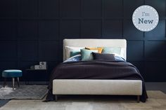 Love Your Home - Molly bed - Our new Molly bed has a deeply padded headboard, which not only looks great, but also makes it extra comfortable for resting your head against. Home decor design ideas, interior design ideas, bedroom design ideas, interior design bedroom ideas