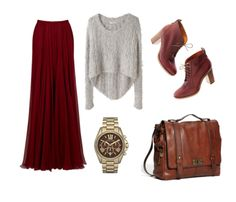 Maroon/ Brown Annie Wears An Outfit Exactly Like This On 90210