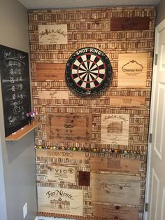 Entertainment Discover Cork and wine box dartboard room men awesome room men diy crafts Garage Game Rooms Game Room Basement Game Room Bar Wine Cork Art Wine Cork Crafts Cork Dartboard Crate Bar Pool Table Room Home Bar Designs Diy Home Bar, Modern Home Bar, Wine Cork Art, Wine Cork Crafts, Cork Dartboard, Crate Bar, Small Bars For Home, Pool Table Room, Pool Tables