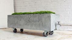 HomeMade Modern, Episode 16 – DIY Concrete Planter. In episode 16 of HomeMade-Modern.com Ben shows how to make a concrete planter using an old cabinet.