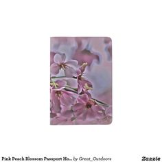 Pink Peach Blossom Passport Holder