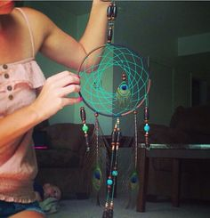 Peacock dreamcatcher. by Dreamcatcher100 on Etsy, $35.00