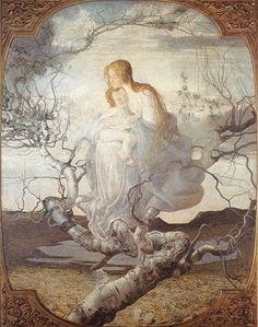 Giovanni Segantini, L'ange de la vie