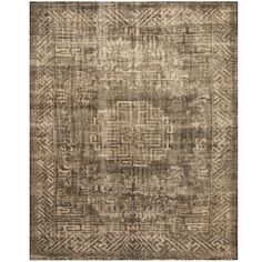 Handmade Herat Oriental Indo Hand-knotted Overdye Moroccan Wool Area Rug (7'10 x 9'10) (Handmade Moroccan Area Rug), Brown, Size 7'9.5 x 9'9