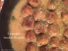 These super simple Swedish meatballs are made with only 5 ingredients! They  are…