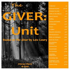 """Everything you need to teach a complete, four-week unit on """"The Giver"""" by Lois Lowry! This differentiated unit includes a variety of engaging activities, graphic organizers, and writing assignments that result in close reading, deep understanding, and critical thinking!"""