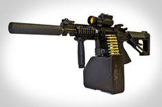 Valkyrie Armament Belt Fed - My Zombie Gear Big Guns, Cool Guns, Military Gear, Military Weapons, Zombie Gear, Guns And Ammo, Weapons Guns, Assault Rifle, Firearms