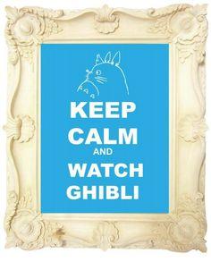 Keep Calm and watch Ghibli Studio Ghibli Movies, Japanese History, Hayao Miyazaki, Animation Film, Totoro, Cool Art, Fun Art, My Childhood, Anime Manga