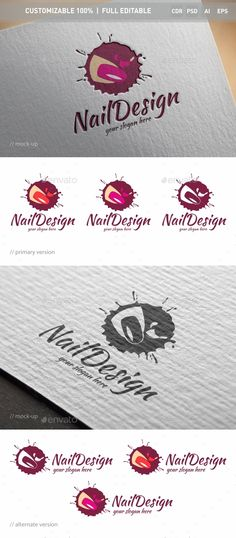 Nail Logo Template PSD, Vector EPS, AI Illustrator, CorelDRAW CDR #logotype Download here: http://graphicriver.net/item/nail-logo-template/16539680?ref=ksioks