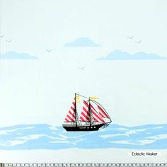 Sarah Jane Out to Sea Sail Away in Blossom Sarah Jane Out to Sea Sail Away in Blossom (DC5620_Blossom) Michael Miller fabric for patchwork and quilting from Eclectic Maker [DC5620_Blossom] : Patchwork, quilting and dressmaking fabric, patterns, habberdashery and notions from Eclectic Maker  £12.40