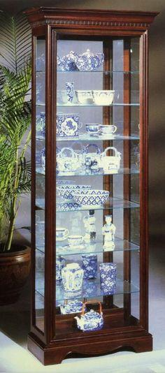Octave III Eight Shelf Curio Cabinet