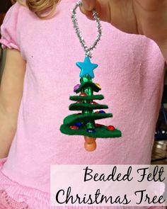 Tutus and Tea Parties: Kid Made Christmas Ornament | Beaded Felt Christmas Tree