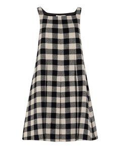 Check Linda Pleat Dress