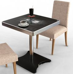 Cool table with build in computer
