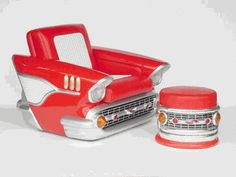 1957 Chevy Red Leather Chair