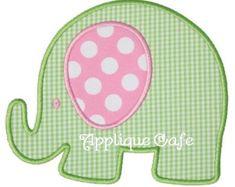 Diseño de apliques elefante máquina 3D por TheAppliqueJunkie
