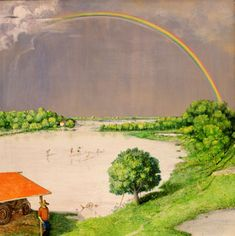 I Triumphed and Saddened With All Weather, 1970, William Kurelek, Mixed media on board, 137.2 cm. x 137.2 cm., Canada
