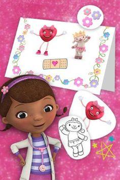 Disney Junior Doc Mcstuffins Free Printable Mother's Day Cards | SKGaleana