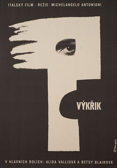 1962 Czech poster for IL GRIDO (Michelangelo Antonioni, Italy, 1957)  Artist: Karel Vaca (1919-1989)