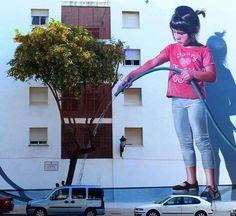 The Street Art of Jose Fernandez Rios in Estepona Jose Fernandez, Graffiti Girl, Best Graffiti, Street Art Graffiti, Rockwell Kent, Street Art News, Street Artists, Urban Street Art, Urban Art