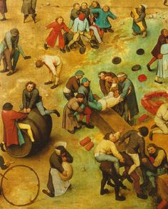 "tierradentro:  ""Children's Games"" (detail), 1560, Pieter Bruegel the Elder. (via)"