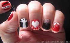 #WarmBodies Nails---I am so doing these!!!!!!
