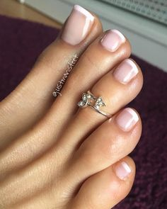 french I like this pedicure. Very plain and simple I like this pedicure. Very plain and simple French Toe Nails, French Toes, Simple Wedding Nails, Wedding Nails Design, Wedding Pedicure, Pretty Toe Nails, Pretty Toes, Manicure Y Pedicure, French Pedicure