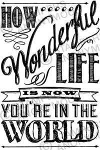 Tim Holtz Rubber Stamp WONDERFUL LIFE Stampers Anonymous P4-2306