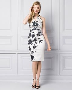 Black And White Floral Dress To Wedding