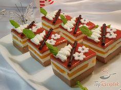 Csokis-krémes kocka sütés nélkül   TopReceptek.hu Christmas Goodies, Waffles, Cheesecake, Food And Drink, Yummy Food, Fruit, Cooking, Breakfast, Recipes