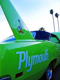 Green Plymouth Superbird  READY TO SHIP  by RetroRoadsidePhoto, $15.00