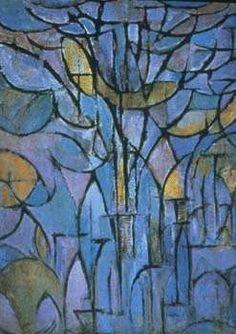 MONDRIAAN Piet (Dutch) - De grijze boom, 1911 BEGINNING OF ABSTRACT ART starting from a tree