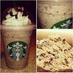 Try the *COOKIE DOUGH FRAPPUCCINO* off our SecretStarbucks.com Menu ! Definitely a great dessert beverage for the cookie & chocolate lover in you