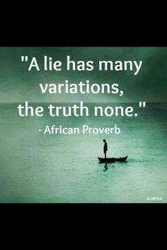 African Proverb, that remind me of certain relatives. Luck they are not family.