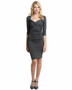 plenty by Tracy Reese Charcoal Grey Draped Crisscross Dress--AUGH!!  This HAD to show up AFTER the wedding!!