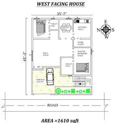 Autocad Drawing file shows Beautiful House Plans, Beautiful Homes, West Facing House, 20x40 House Plans, East Direction, Home Stairs Design, Duplex House Plans, Vastu Shastra, Bungalow House Design