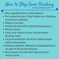 How to Stop Overthinking #anxiety #overthinking #perfectionist