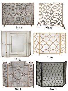 Fireplace screens and Fireplace accessories