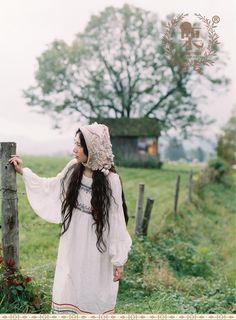 DEAR栗原创森林系欧洲田园风民族风刺绣吊带裙绣花花边多穿连衣裙-淘宝网