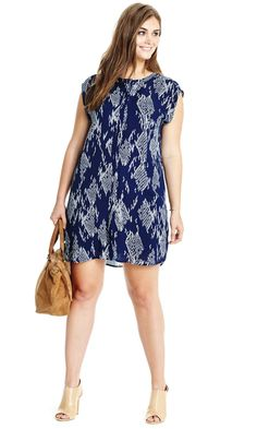 Ikat Printed Dress