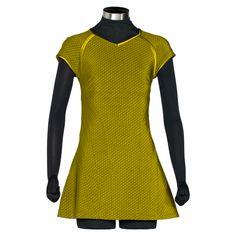Star Trek Cosplay Command Golden Dress Costumes