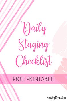 Getting ready to sell your home? We just sold ours despite having a messy toddler and traveling husband! Here's the daily staging checklist I used to get me through it. Planning And Organizing, Do It Yourself Crafts, Diy Décoration, Mom Humor, Organization Hacks, Decoration, Staging, Free Printables, Things To Sell