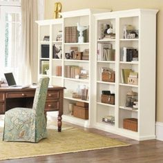 Office Bookshelves - like the mix of books and other items