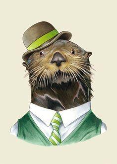 Sea Otter Portrait print by Ryan Berkley