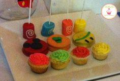 marshpop´s, alfajores, mini cupcakes tematica mickey y sus amigos