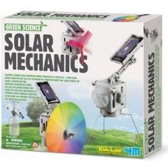 Learn about alternative energy with this Toysmith solar mechanics science kit. Kit Solar, Solar Fan, Solar Panel Kits, Solar Panels, Cool Toys For Boys, Best Kids Toys, Kids Toys For Christmas, Illusion, Mechanical Workshop