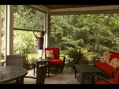 Panorama - Stoett Industries. Retractable screen for patio rooms or garages. Shade. Keep out insects