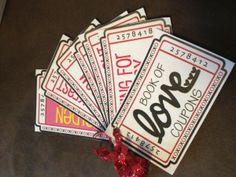 ¡Regalale a tu pareja unos cupones! Busca más ideas para San Valentín en http://www.1001consejos.com/manualidades-para-mi-novio/ #SanValentin
